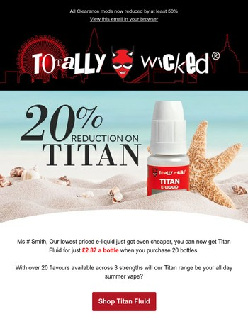 E-liquid from just £2.87 a bottle!
