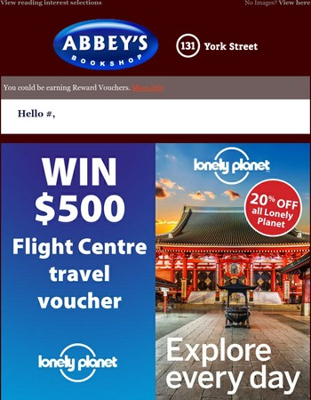 Competitions & Reviews: Win $500 in travel with Lonely Planet