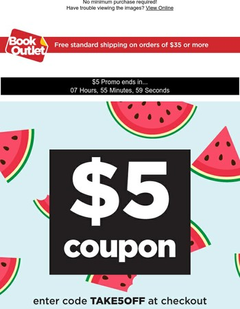Hurry! Only a few hours left to redeem $5!