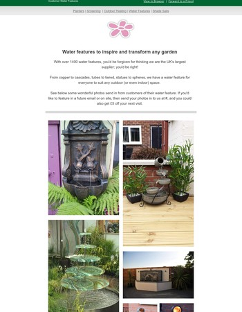 Get the Garden Look with a Primrose Water Feature!