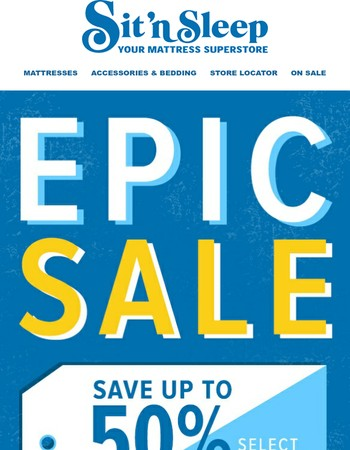 Don't miss our Epic 4 day sale!