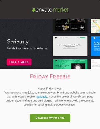 ❗❗ A Serious Steal Awaits You... [Friday Freebie's Here!]