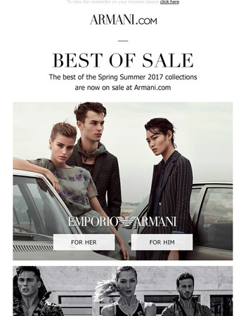 Best of sale on Armani.com