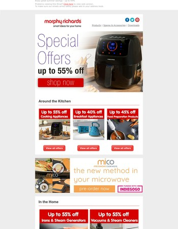 Mary, Enjoy great summer savings - up to 55%