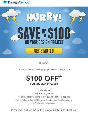 ⚡ Up to $100 off your Graphic Design
