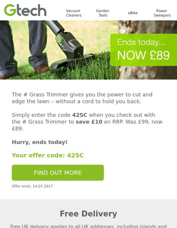 Last Chance for Summer Savings from Gtech