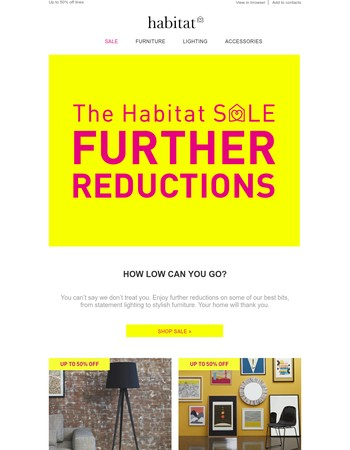 Further reductions | Shop up to 50% off in our sale