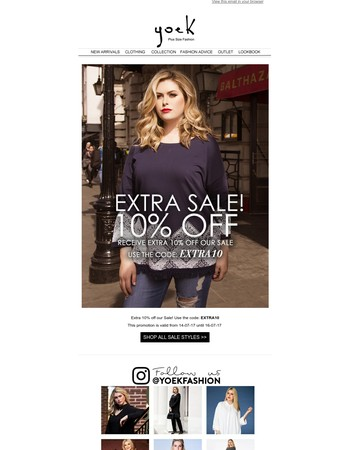 EXTRA 10% OFF OUR SALE!