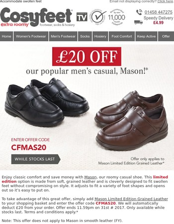 Exclusive offer - £20 off our limited edition men's shoe