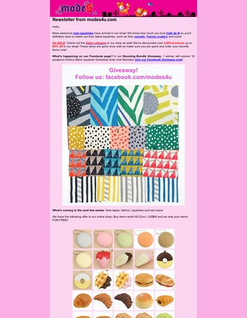 Cafe de N Squishies & Stunning Bundle Giveaway from modeS4u