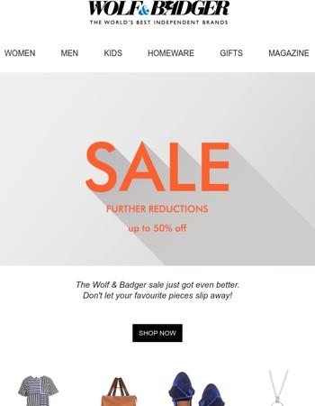 The Wolf & Badger sale just got even better...