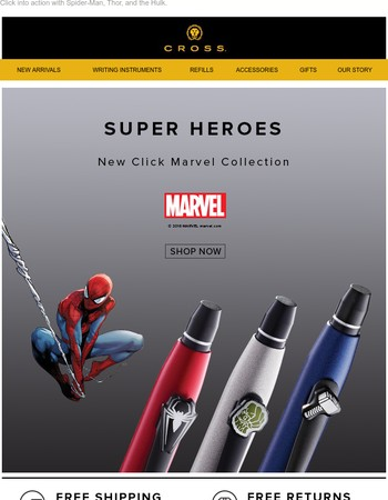 New Cross Marvel Click Super Heroes Collection