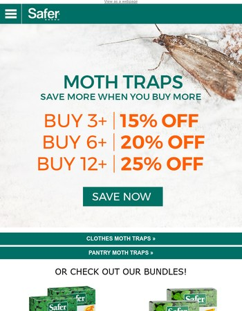 Keep Your Closet & Pantry Moth Free