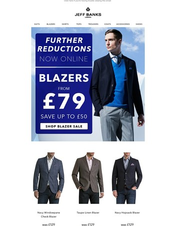 Further Reductions Now Online - Blazers From £79