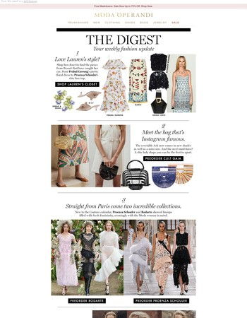 The Weekly Digest, featuring how to stay chic in the heat