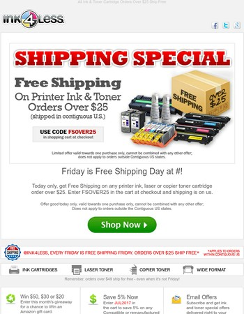 Free Shipping Friday: One-Day Only!