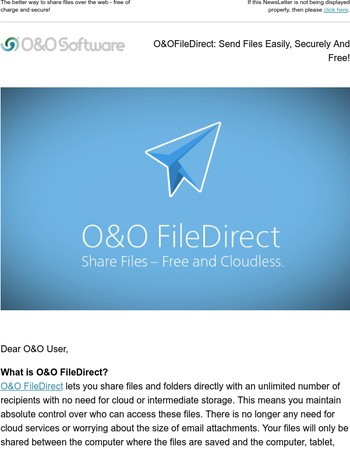 O&O FileDirect: Send Files Easily, Securely And Free!