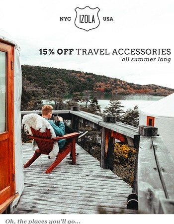 Go further with 15% off