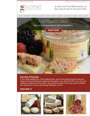 Ends Tonight: 20% Off Select French Foods and Ingredients