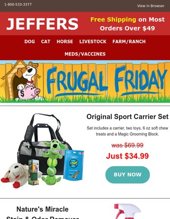 Frugal Friday - 1 Day Sale!