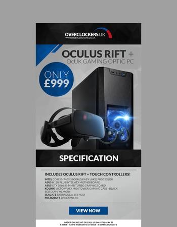 OcUK Gaming Optic VR System + Oculus Rift for only £999