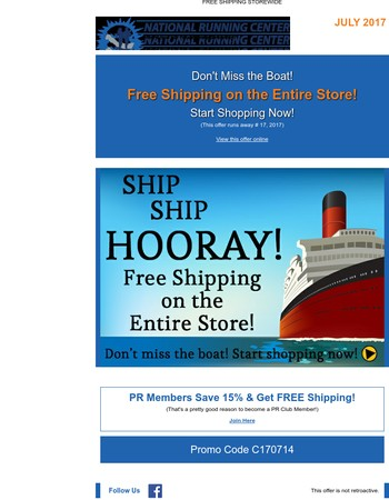 ⚓ Your Ship has Come In! Free Shipping on Everything ⚓