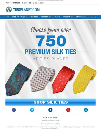 Premium Men's Silk Ties - Over 750 Styles to Choose From