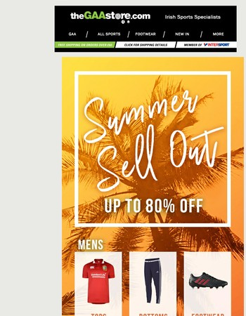 BIGGEST SALE YET! Up to 80% off!