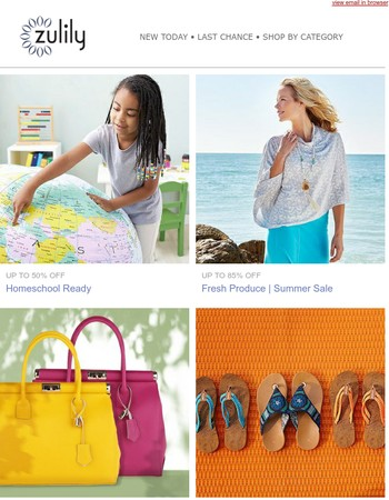 Fresh Produce Summer looks up to 85% off + Homeschool Ready