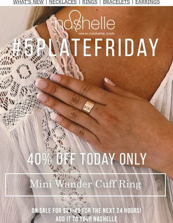 40% Off Our Mini Wander Cuff Ring