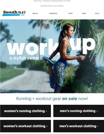 Running + Workout Gear on Sale! Work Up a Stylish Sweat!