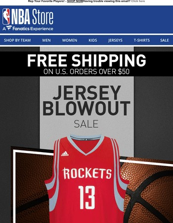 Add To Your Jersey Lineup w/ The Jersey Blowout Sale