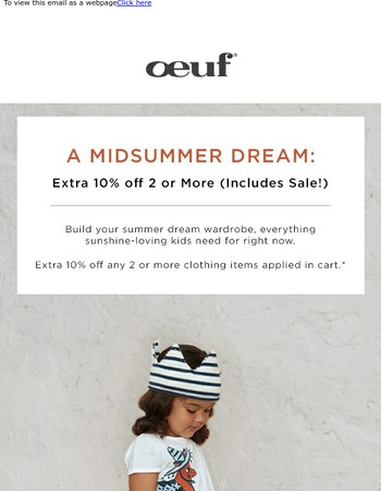 Midsummer Dreaming: Extra 10% off 2 or More
