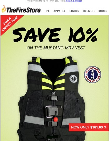 Save 10% on the Mustang MRV Vest
