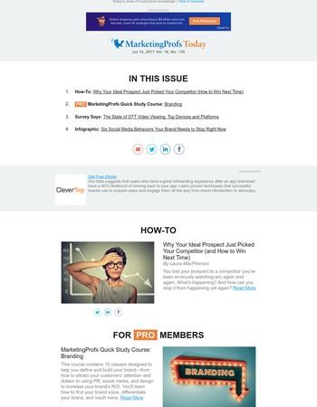 Your Prospect Chose a Competitor | Internet-to-TV Video | 6 Social Media Gaffes | Branding