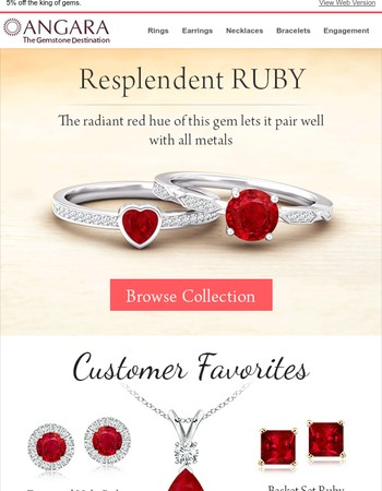 Ruby + any metal =Gorgeousness