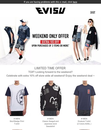 [Weekend Only] Replenish Your Closest With Extra 10% Off !