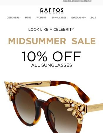 Midsummer Sale - 15% off All Sunglasses