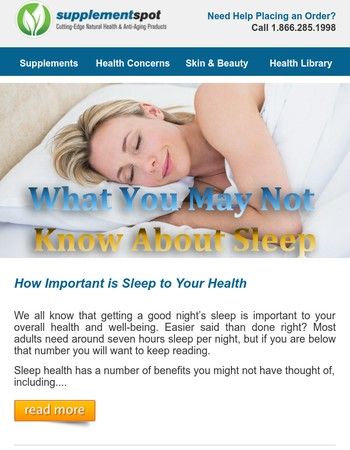 What you may not know about Sleep