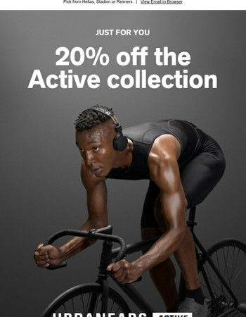 Active headphones - Last chance for 20% off