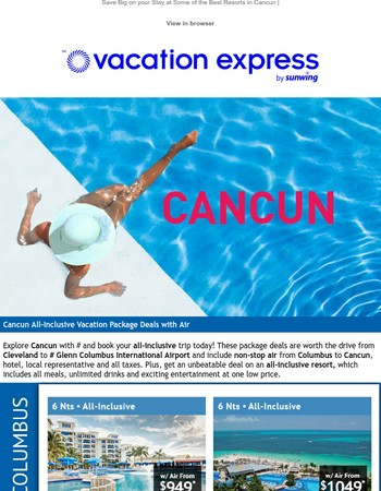 Extend Your Summer Vacation to Beautiful Cancun!