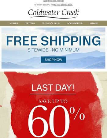 LAST DAY: Up to 60% off LINEN + CLEARANCE + Free Shipping
