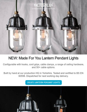 NEW: Lantern Pendant Lights + eBay Weekend Bargains
