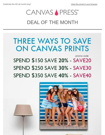Don' forget about our Deal of the Month! Start saving now!