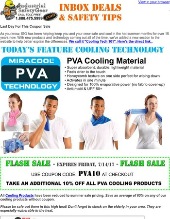 Cooling Tech 101 ☀ PVA Cooling Sale - Last Day