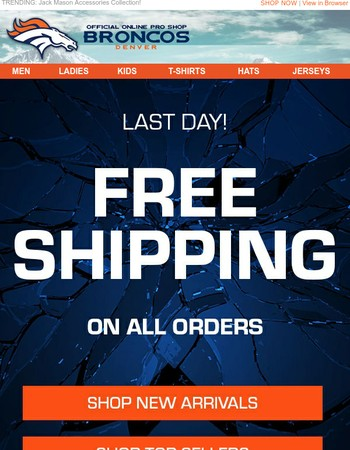 LAST DAY: Free Shipping No Minimum Expires Tonight