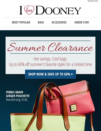 Best of Summer Clearance Event