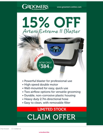 Get 15% OFF the Artero Extreme II Blaster!