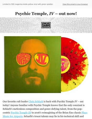 Chris Schlarb's Psychic Temple, IV – out now!