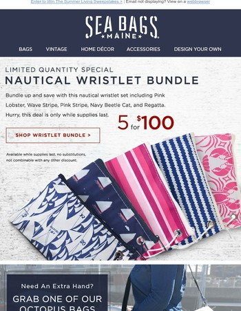 While They Last—Wristlet Special + WIN The Summer Living Sweepstakes
